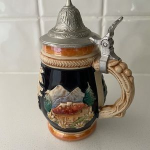 Swiss mini beer Stein with lid